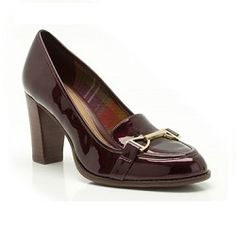 Wine patent leather loafers with heel -  - http://smartcasualdress.co.uk/home-page/smart-casual-dress-code-for-women