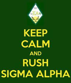 Rush Sigma Alpha!