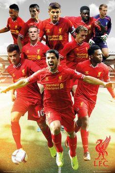 Liverpool Zawodnicy 13/14 - plakat - 61x91,5 cm  Gdzie kupić? www.eplakaty.pl