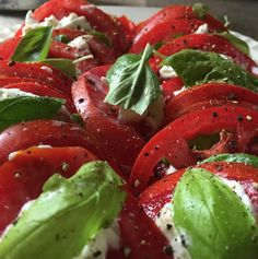 I just can't get enough of good Italian food! Homemade caprese salad with fresh mozzarella from Italy! Soooooo good! #capresesalad #caprese #italy #italianfood #salad #healthy #nutrients #nutrition #nutrientdense #basil #tomatoes #organic #nongmo #vegetarian #glutenfree #quickandeasy #quickrecipes #recipes #phillyrd #functionalhealthcenter