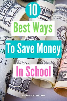 10 best ways to save money in school. If you're a student and looking to watch your budget, there are plenty of ways to save money in college. Use these tips and tricks to help make student debt not so burdensome. Best Money Saving Tips, Money Saving Challenge, Make Money Blogging, Saving Money, Money Tips, Save Money On Groceries, Ways To Save Money, How To Raise Money, Make Friends In College
