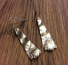 Vintage Sterling Silver Peony earrings