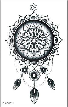 Dreamcatcher Temporary Tattoo, Tribal Boho Bohemian Back Tattoos – MyBodiArt