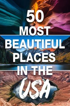 travel usa Looking for your next adventure or travel destination in the United States Here are the 50 most beautiful places in the US that you should visit in your lifetime! Start planning your bucket list now! Beautiful Places In America, Beautiful Places To Travel, Best Places To Travel, Cool Places To Visit, Vacation Places In Usa, Beautiful Places Quotes, Travel Things, Wonderful Places, Amazing Places
