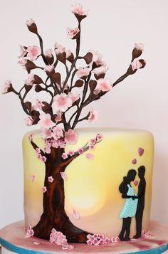 20 cm im Durchmesser und gut 17 cm Hoch. Ein Traum mit zwei verschiedenen Füllungen. Zitrone-Maracuja und Erdbeer-Schokolade. Da kann der Frühling kommen.