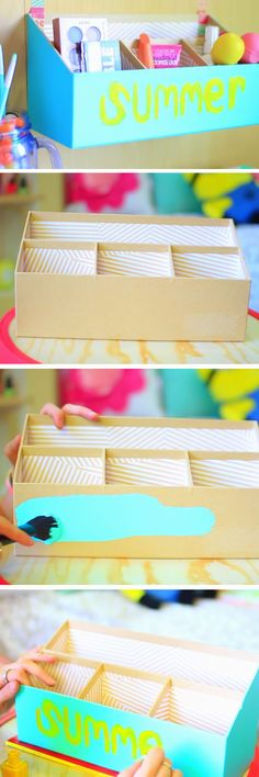 Cute Summer Box | 18 DIY Summer Tumblr Room Decor Ideas that are insanely cute!