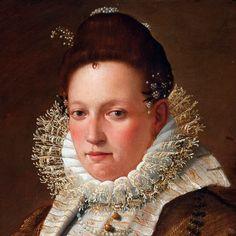 Lavinia Fontana, Portrait of a Lady with a Dog, detail