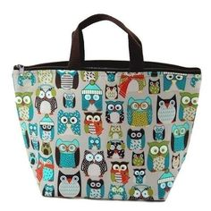 Free shipping Thirty One Zip It Thermal Lunch Picnic Bag Carry Tote Bag Owl  #01