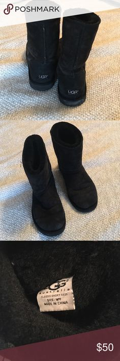 Black Ugg Boots Black Ugg boots, size 7, good condition! UGG Shoes Ankle Boots  Booties