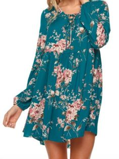fall floral romance dress | sassyshortcake.com