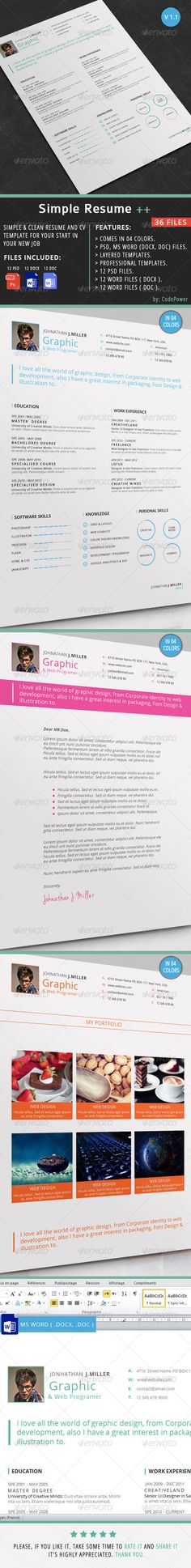 Portfolio Stationery Template Stationery templates, Brochure - fitness trainer resume