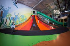 Climb and Slide - They just LOVE it - indoor climbing volcano - a play attraction that makes them smile.   #kids #playing