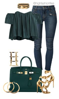 """""""Out"""" by highfashionfiles ❤ liked on Polyvore featuring Koral, Stone_Cold_Fox, Henri Bendel, Hermès and Tom Ford"""