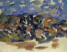 Paul Cézanne (1839-1906) - Mont de Cengle, 1904-06, huile sur toile/papier/carton, 91 x 73 cm, E. G. Bührle Collection, Zurich, Switzerland source : http://poulwebb.blogspot.fr