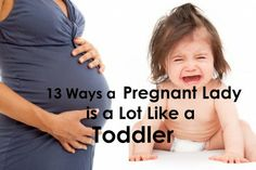 What does a pregnant lady have in common with a toddler?  Some of these are down right funny!