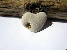 Heart Natural Holey Holy Rock Beach Stone LOVE Lucky Powerful Mystical Fairy