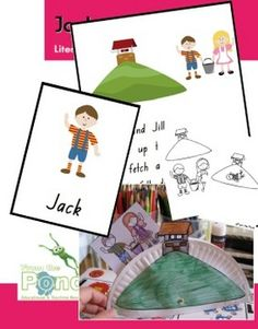 Weekly Freebie: FREE Reading Resource Free From the Pond on TpT Jack & Jill Nursery Rhyme Teaching Kit Literacy And Numeracy, Literacy Skills, Kindergarten Literacy, Early Literacy, Emergent Literacy, Fairy Tale Activities, Rhyming Activities, Classroom Activities, Book Activities