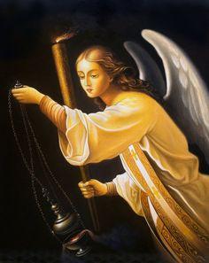 Archangel of prayer by uvar.deviantart.com on @deviantART - Based on 'The Angel' by Carl Timoleon von Neff