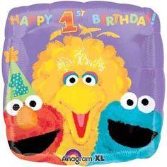 Sesame Street 1st Birthday Balloon (each) - Party Supplies
