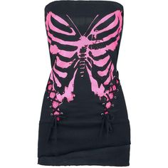 Death Fly Dress ($40) ❤ liked on Polyvore featuring dresses, tops, shirts, vestidos, pink dress and bandeau dress