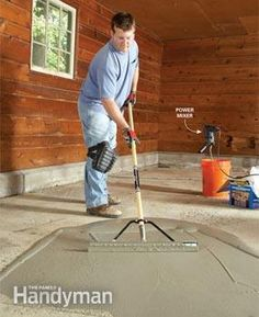 Special concrete resurfacers will make a concrete floor look like new