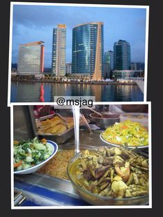 EXPENSIVE prices charged to tourist in Port of Spain. The Hyatt Regency (second building from the left) charges tourist $354TT for two overdone burgers,  fries,  and fruit drinks. The Breakfast Shed charges $60TT for a lunch. No real Trini can afford these prices,  so just bilk the tourists.