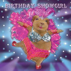 Kartka urodzinowa Showgirl