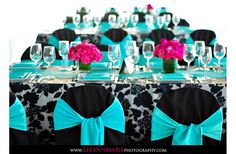 teal pink and black