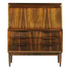 Erling Torvits; Rosewood Secretary Dresser, 1960s.