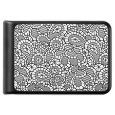 Black Lacy Lace-Look Design Power Bank