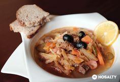 Orosz szoljánka   NOSALTY Ramen, French Toast, Oatmeal, Soup, Cooking Recipes, Meat, Chicken, Breakfast, Ethnic Recipes