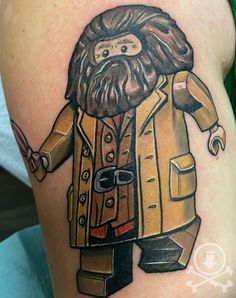 Awesome Lego Hagrid tattoo by Meghan Patrick. #12ozstudios #team12oz #tattoo #tattoos #tattooed #tattooing #tattooism #tattooart #tattooartist #tattooer #tattooist #art #artstudio #tattooshop #tattoostudio #ink #inked #colortattoo #colortattoos #Hagrid #Hagridtattoo #Lego #Legos #Legotattoo #Legotattoos #HarryPotter #HarryPottertattoo #HarryPottertattoos