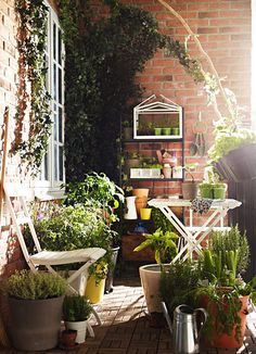 These 14 Balcony Gardens Have Us Ready For Spring. Small Balcony GardenSmall  ...