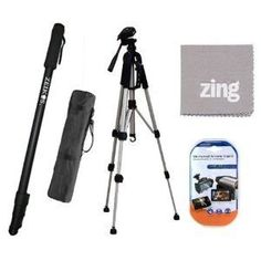 SX65 Deluxe Pro 57 Camera Tripod with Tripod Carrying Case For The Sony DCR-SX85 CX130 Digital Camcorders HDR-CX160