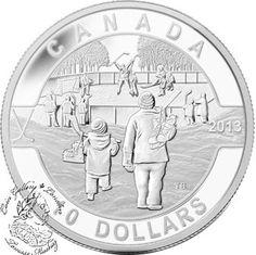 Coin Gallery London Store - Canada: 2013 $10 Hockey O Canada Series 1/2 oz Pure Silver Coin, $39.95