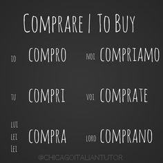 comprare | to buy