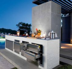 Basic Kitchen Area Concepts For Inside or Outside Kitchen areas – Outdoor Kitchen Designs Bbq Kitchen, Backyard Kitchen, Basic Kitchen, Kitchen Ideas, Kitchen Appliances, Island Kitchen, Stainless Kitchen, Kitchen Units, Grill Outdoor