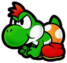 Baby Yoshi from Paper Mario Thousand Year Door ( seriously no name )