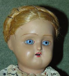 ANTIQUE BISQUE Doll BEAUTIFUL BLUE EYES Unmarked GERMAN Antique Clothes | eBay