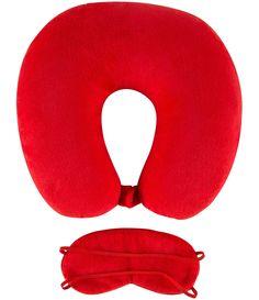 Kit travesseiro + máscara para dormir   Estampa de corações   Marca: Accessories    Veja outras opções de    papelaria.