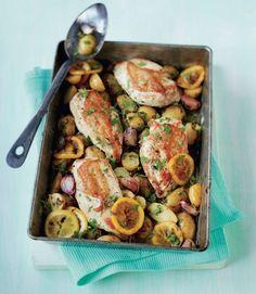 White wine roast chicken