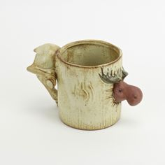 Moose Mug Farm Animals, Cute Animals, Golden Retriever Names, Moose Lodge, Moose Mug, Wild Creatures, Tea Pot Set, Hippopotamus, Ceramic Cups