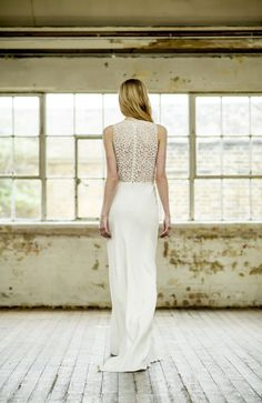 Atelier Anonyme Oh Oui 2015 Collection is resolutely feminine, resolutely in tune with the times, resolutely divine, a true French Wedding Dress Carrie, French Wedding Dress, Bridal Gowns, Wedding Gowns, Silhouette, French Lace, Dress Collection, Wedding Designs, Fashion Dresses