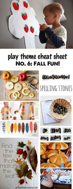 Kids Activities for Fall- Great list of easy set-up play ideas for fall, best books for fall, kid-friendly recipes for fall, and even a few fun fall toys. Creative Activities For Kids, Outdoor Activities For Kids, Autumn Activities, Toddler Activities, Fun Activities, Fall Crafts For Kids, Craft Projects For Kids, Diy For Kids, Kids Crafts