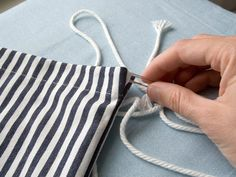how to make a drawstring backpack. so useful!