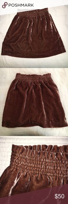 J Crew Velvet Skirt Even has pockets! Fantastic condition. No stains or tears. J. Crew Skirts Mini