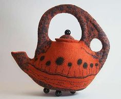 morgan contemporary glass gallery - Images for Pamela MacGregor - Not Just a Rusty Bucket Pottery Teapots, Ceramic Teapots, Ceramic Cups, Porcelain Ceramics, Ceramic Pottery, Ceramic Art, Porcelain Dinnerware, Painted Porcelain, Textiles