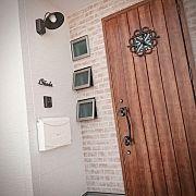 Entrance/玄関ドア/玄関タイル/アイアン表札/赤いポスト/黒い家...などのインテリア実例 - 2017-11-27 12:32:06