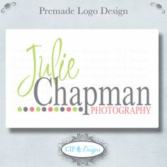 Premade Logo and Watermark...Pre made logo design...Premade Photography Logo op Etsy, 11,53 €