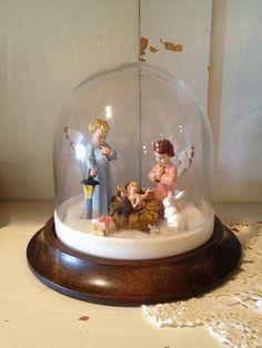 Vintage Nativity Nativity Set Christmas Nativity by FoundBlessings